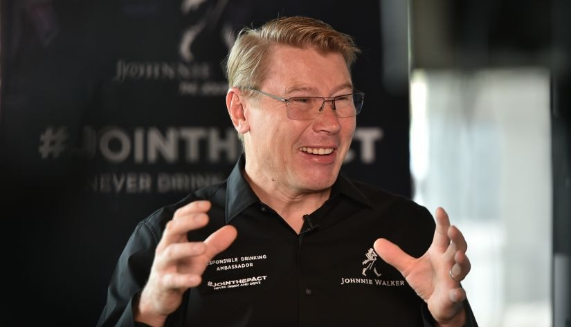 Mika Hakkinen during an interview with Firstpost in Mumbai. Image courtesy: Apoorva Gupte