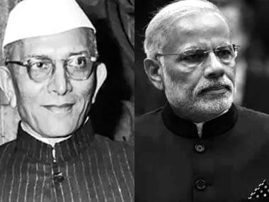 Morarjee Desai & Narendra Modi