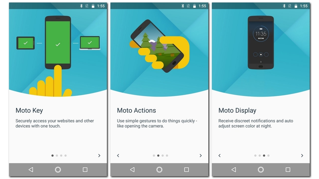 Motorola's native apps like Moto Display and Moto Actions return with the Moto X4.