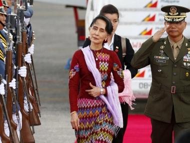 File image of Myanmar state councillor Aung San Suu Kyi. AP