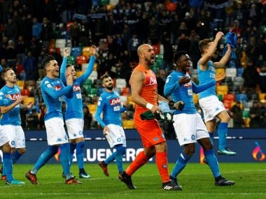 Napoli regained top spot in Serie A with hard-fought win at Udinese. Reuters