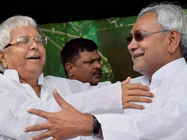 Lalu Prasad and Nitish Kumar had joined hands to form an alliance in Bihar in 2015. PTI