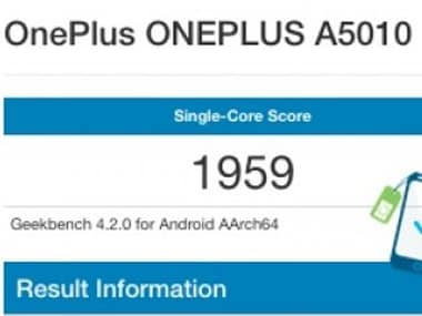 The leaked GeekBench 4 score for the OnePlus 5T Image: telefoonabonnement.nl