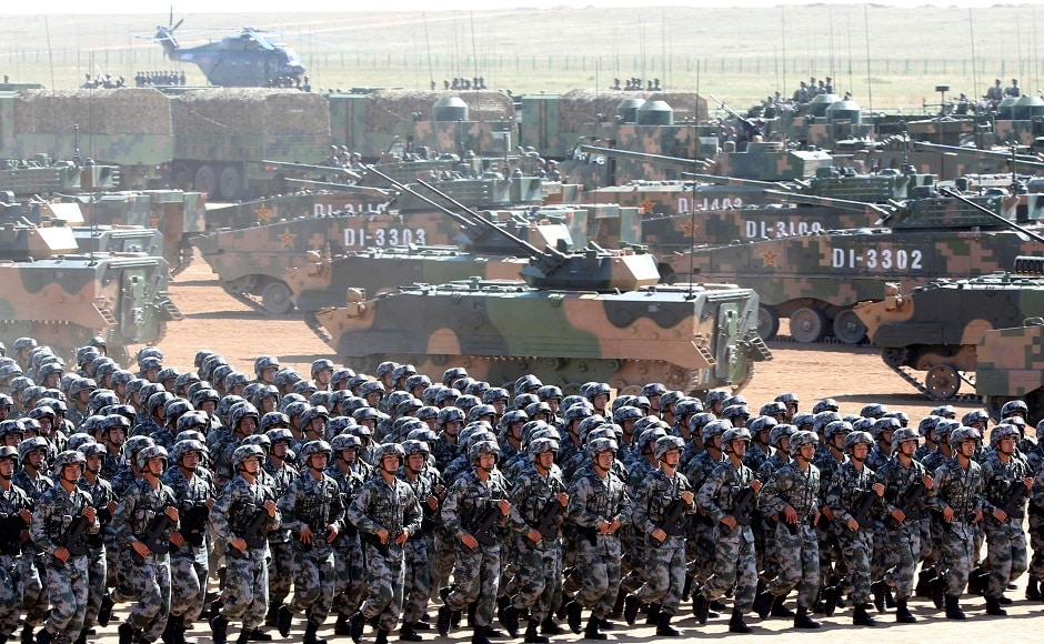 Soldiers of China's People's Liberation Army (PLA) take part in a military parade. Reuters