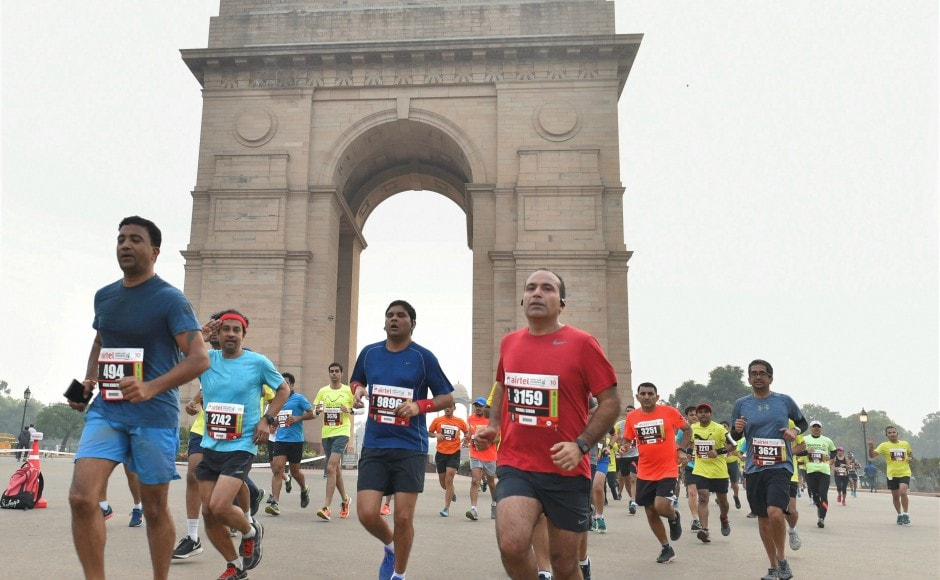 The annual half marathon nearly ran into trouble this year because of poor air quality before the Delhi High Court allowed it to go ahead as scheduled. PTI