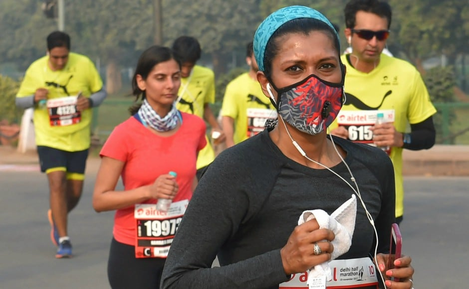 Even as Delhi is reeling under severe air pollution, 35,000 people signed up for participation - 1000 more than last year. PTI