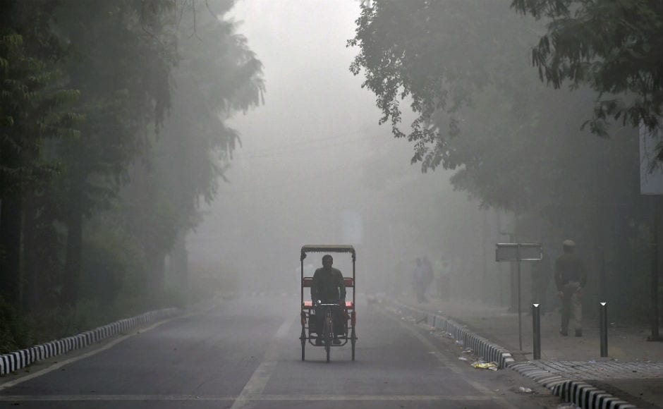 Delhi woke up to a choking blanket of smog on Tuesday as air quality in the world's most polluted capital city reached hazardous levels. PTI