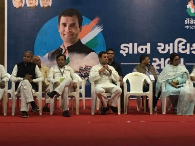 Rahul Gandhi said Congress will focus on education and healthcare. Image courtesy: Dikshita