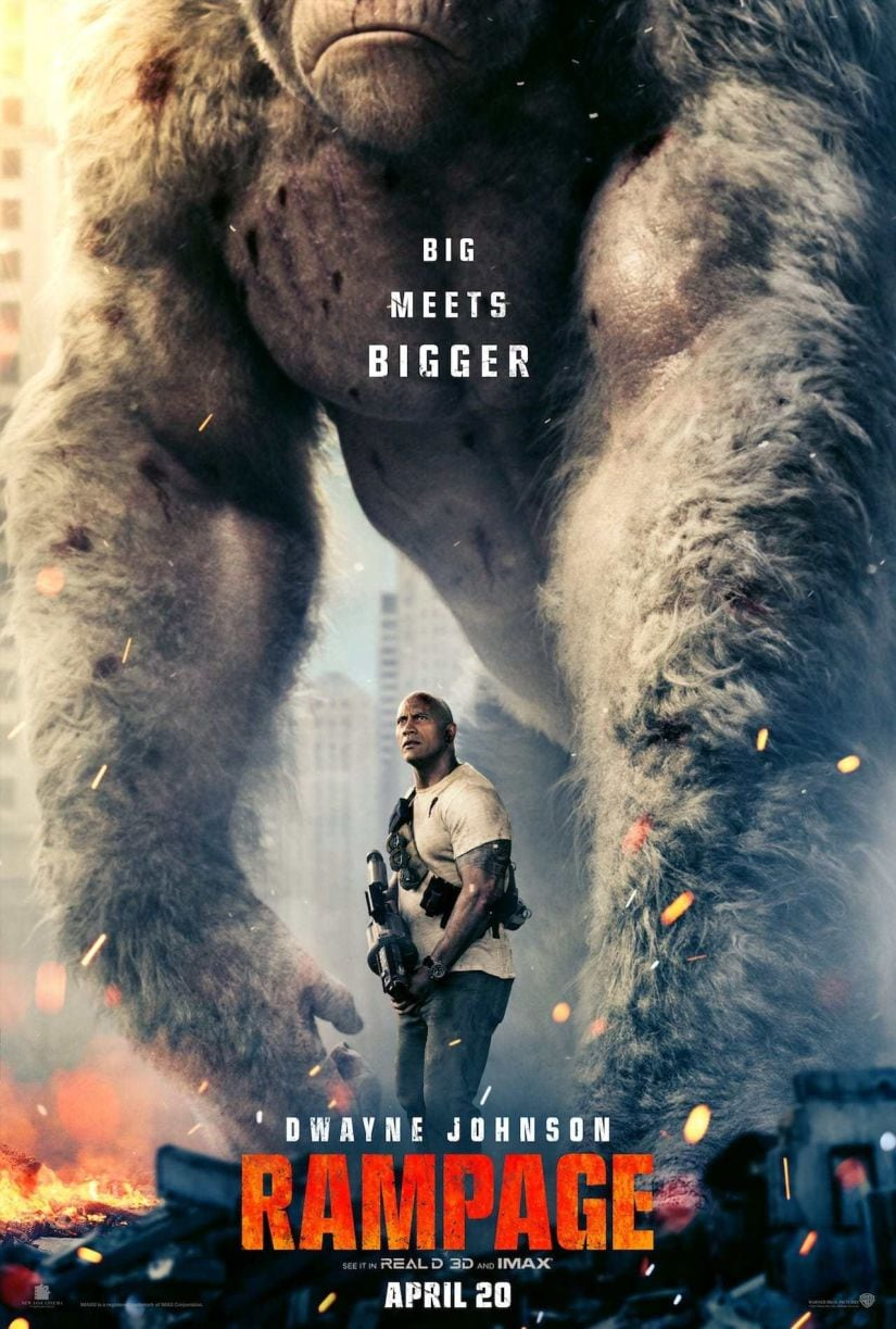 Dwayne Johnson in a sill from Rampage. YouTube