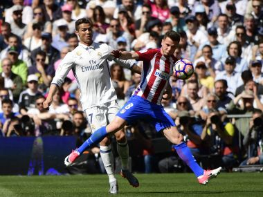 Real Madrid will face Atletico Madrid in the derby clash knowing a defeat could severely dent their title chances.  AFP