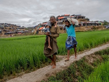Over 7,00,000 Rohingya Muslims have moved to Bangladesh. AP