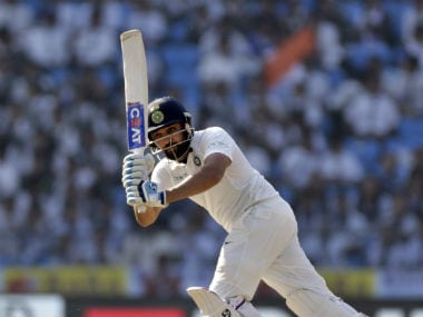 Rohit Sharma struck his first Test century in four years in the second India-Sri Lanka Test at Nagpur. AP