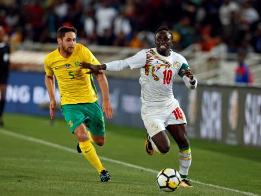 Senegal's Sadio Mane in action with South Africa's Dean Furman. Reuters