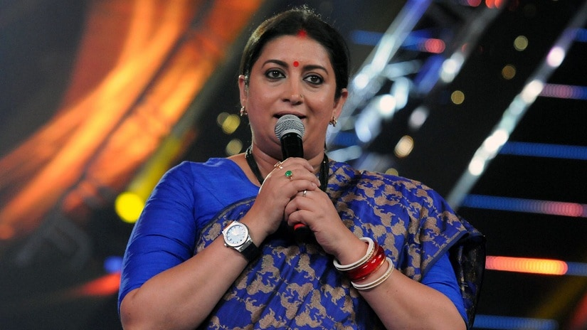Smriti Irani during her welcome speech at IFFI 2017. Image via Facebook
