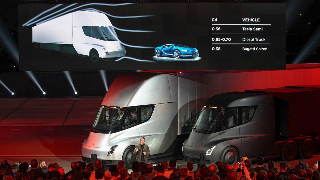 Tesla Semi truck in images: Tesla's take at a 1000 hp long-haul electric truck that has a range of 500 miles