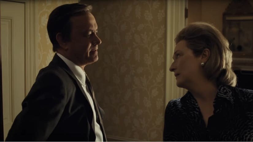 Tom Hanks and Meryl Streep in Steven Spielberg's The Post. Image courtesy: YouTube screengrab
