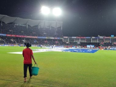 The 3rd T20I between India and New Zealand was reduced to a 8-over affair after rain lashed Thiruvananthapuram. AFP