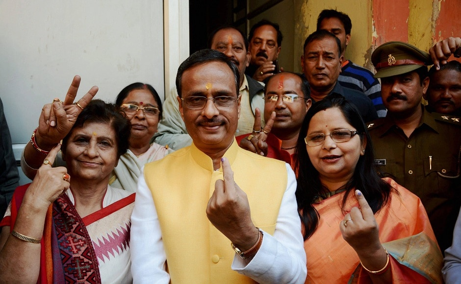 Uttar Pradesh deputy chief minister Dinesh Sharma and BJP mayor candidate Sanyukta Bhatia also casted their votes. Sharma said that BJP is committed to work for the people and Opposition should realise that it was the people's love and trust which ensured the party's victory in the Assembly polls. PTI