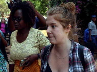 Journalist Martha O'Donovan arrives at court in Zimbabwe. Reuters