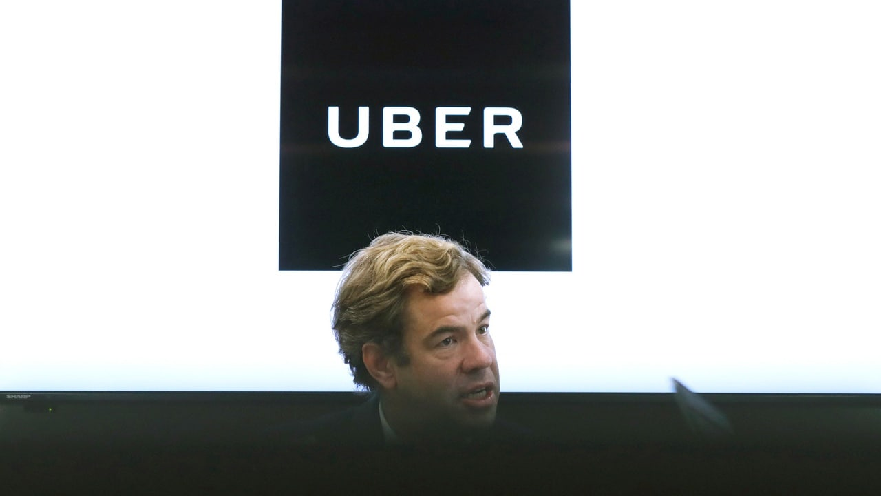 Uber's Asia Pacific Chief Business Officer Brooks Entwistle gives an interview in Japan. Image: Reuters