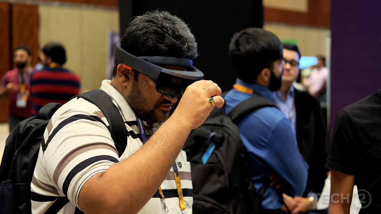 There were plenty of AR/VR apps on display