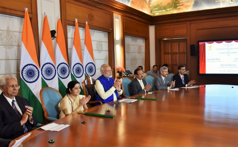 ' The ties between India and Bangladesh have further strengthened', said Narendra Modi at the launch of the Bandhan express. PTI