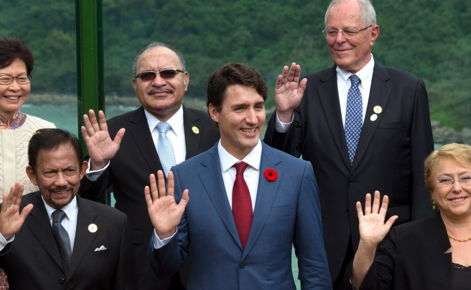 Trump and Xi Jinping joined leaders from across the Asia-Pacific region for closed door summit talks, including Russia's Vladimir Putin, Japan's Shinzo Abe and Canada's Justin Trudeau.AP