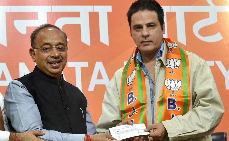 Actor Rahul Roy on Saturday joined the BJP in presence of Union minister Vijay Goel at the party headquarters in New Delhi on Saturday. PTI