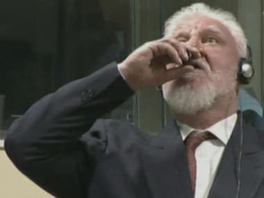 Slobodan Praljak drinks poison in court: Bosnian Croat not the first war criminal to pick suicide over facing justice