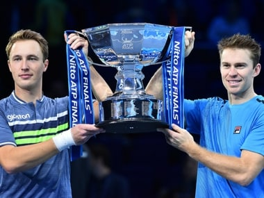 ATP Finals men's doubles winners . AFP