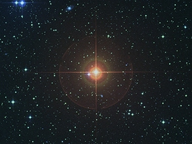 The sky around red giant W Hydrae, as seen in visible light Chalmers University of Technology