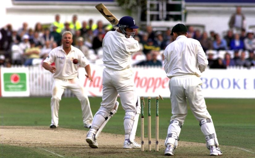 Shane Warne gets the better of Alec Stewart. Again. Getty Images.