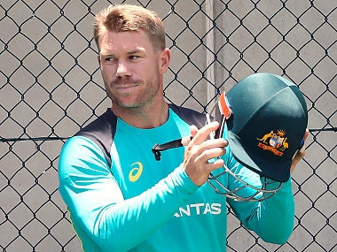 Australian opener David Warner suffered an injury scare ahead of the first Test against England. AP