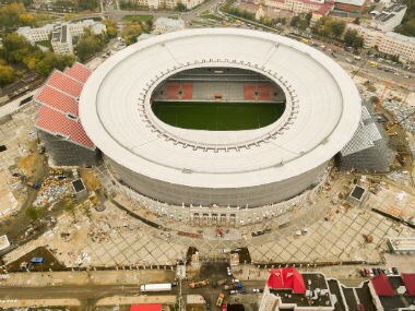 An aerial view of the Ekaterinburg Arena. Image credit: Twitter/@FifaWorldCup