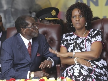 File image of former Zimbabwe president Robert Mugabe with his wife Grace. AP