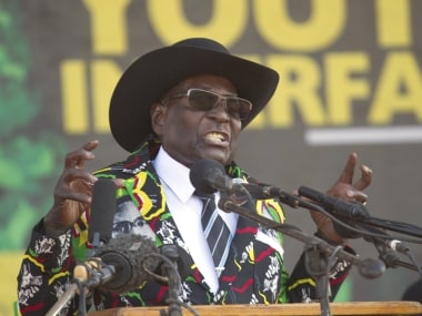 File image of Zimbabwe president Robert Mugabe. AP