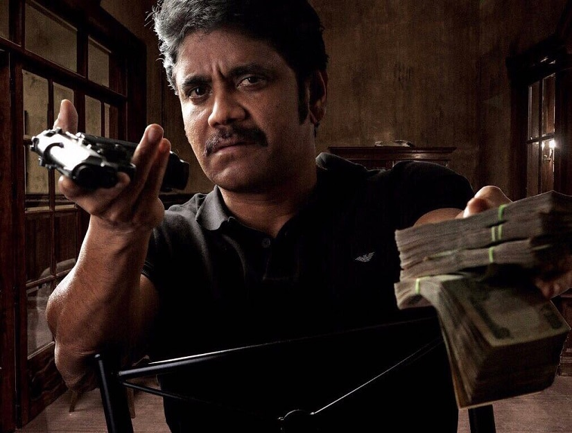 Nagarjuna Akkineni in a still from his upcoming film with Ram Gopal Varma. Image from Twitter/iamnagarjuna.