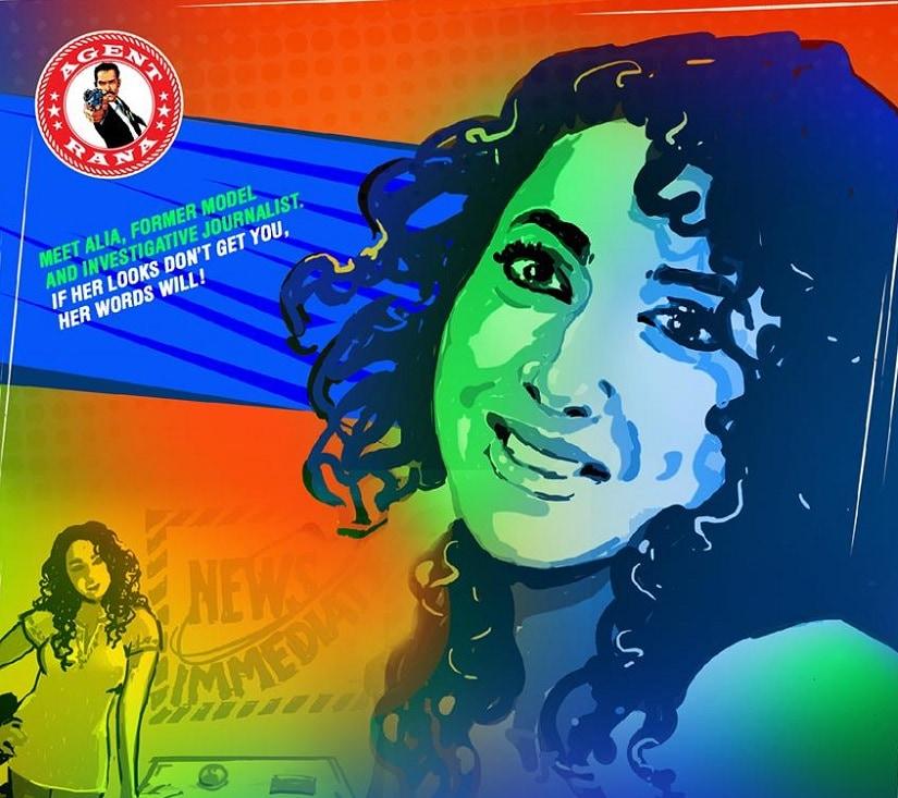 A panel depicting Alia from Agent Rana. Image from Facebook/@agentrana.toi
