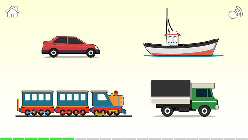 Simple tests such as this ask kids to pick out a particular vehicle.