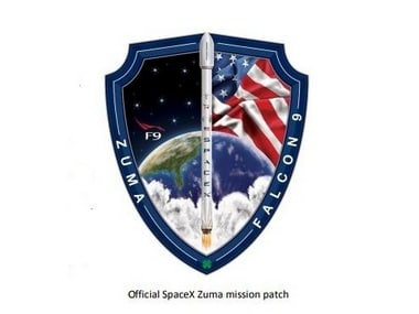 Official SpaceX Zuma mission patch. SpaceX