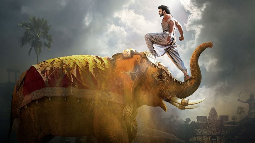 Prabhas in a still from Baahubali 2: The Conclusion.