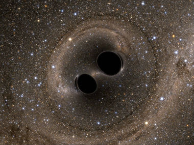 Collision of two blackholes. NASA.