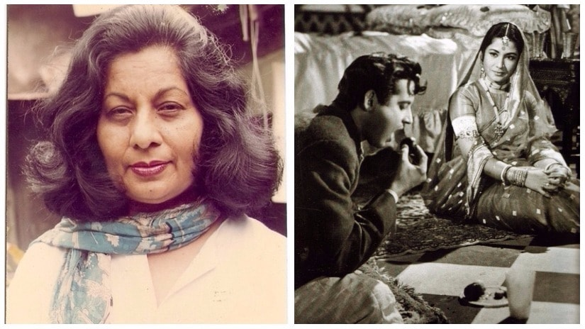 Among the leading couturiers who turned to Bollywood was Bhanu Athaiya (L); (R) Still from Sahib, Biwi Aur Ghulam