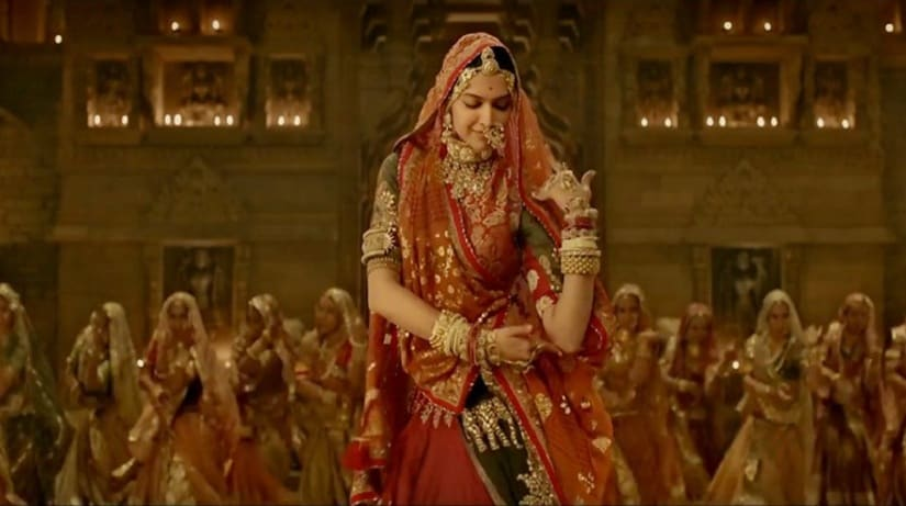 Deepika Padukone in 'Ghoomar'. Image from Twitter/ @ThisIsSunrise