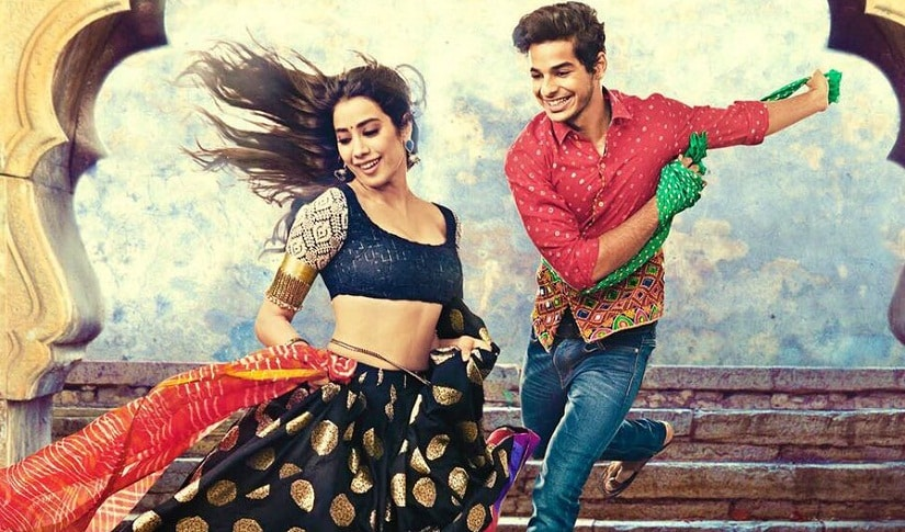 Janhvi Kapoor and Ishaan Khatter in a still from Dhadak