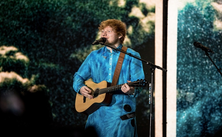 Ed Sheeran performed on several of his hit songs, like 'Thinking Out Loud' and 'The Galway Girl'