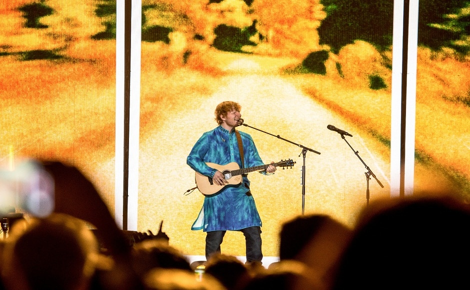 Sheeran surprised the audience when he, after announcing his exit, returned to the stage and crooned his smash hit from this year, 'Shape Of You'
