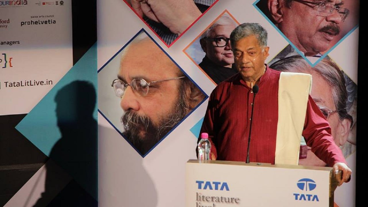 Girish Karnad at Tata Lit Live 2017. Facebook