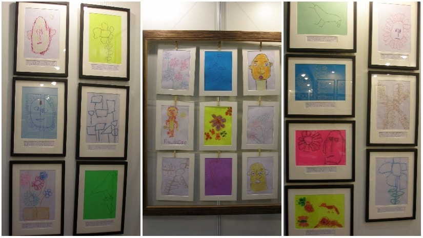 Artworks by Shivani's visually impaired students