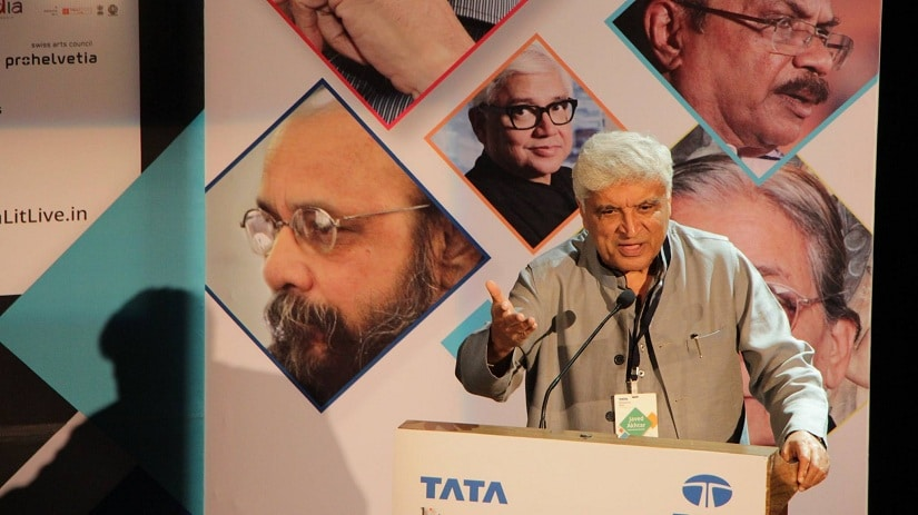 Javed Akhtar at his book launch